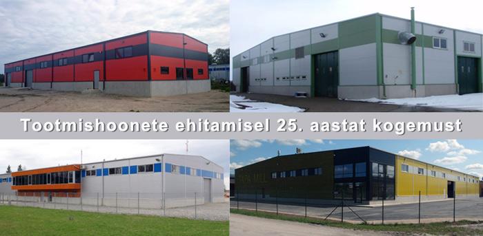 Tootmishoonete tööstushoonete ehitus