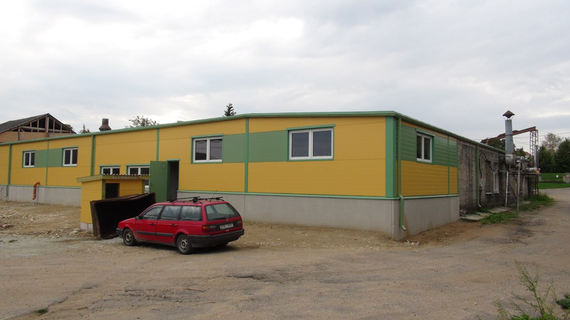 Virumaa Metsatööstus tootmishoone juurdeehitus Rakveres